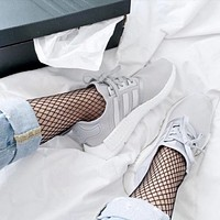 Adidas  Silver white fashion casual shoes