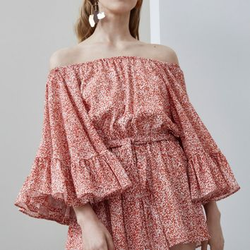 C/MEO COLLECTIVE FADING NIGHTS PLAYSUIT terrazzo