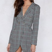 Check With Me First Blazer Dress