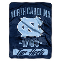 "UNC College """"Varsity"""" 46""""x60"""" Micro Raschel Throw"