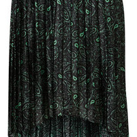 Green Paisley Pleated Skirt - Sale  - Sale & Offers