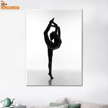 da265e6edd2f Canvas Art Print Gymnastics Girl Wall Painting Pop Art Minimalis