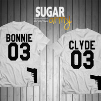 Bonnie Clyde shirts SPECIAL EDITION with gun, bonnie clyde jersey, bonnie clyde couples shirts, Premium quality t-shirts