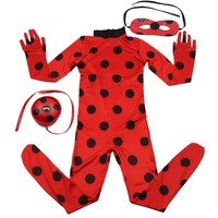 Ladybug Cosplay Costumes Girls Jumpsuits Halloween Christmas Fancy Party Dress Costume Kids Disfraz Lady Bug Cosplay Marinette