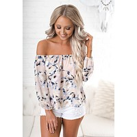 Sucker Punched Floral Top (Blush)