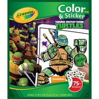 "Crayola Color 'n Sticker Book 10""X8.5""-Teenage Mutant Ninja Turtles"