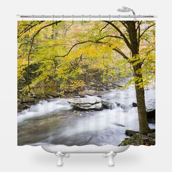 Smokey Mountain River Shower Curtain