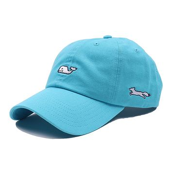 Whale Logo Baseball Hat in Aqua by Vineyard Vines, Also Featuring Longshanks the Fox