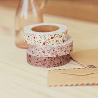 Flower Pattern Fabric Tape