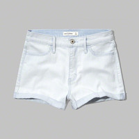 girls a&f high rise denim shorts | girls clearance | Abercrombie.com