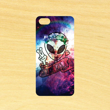 Alien Stay Rad Space Art iPhone 4/4S 5/5C 6/6+ and Samsung Galaxy S3/S4/S5 Phone Case