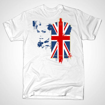 Limited Edition Funny  T shirt the Rose uk flag Tshirt Mens and Tshirt girl Size Available in S,M,L,XL,XXL in KaosLaris