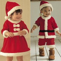 2016 New 0 3 yrs baby girls christmas outfit santa pajamas kids boys christmas clothes disfraz navidad bebe chandal clothing-in Clothing Sets from Mother & Kids on Aliexpress.com | Alibaba Group