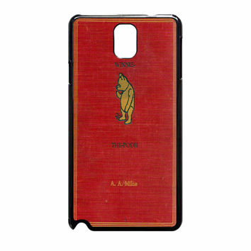 Winnie The Pooh Cover Book 864 Samsung Galaxy Note 3 Case