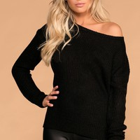 Leanne Black Knit Sweater