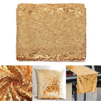 12''*108'' Sparkly Light Gold Sequin Table Runner Sewing Fabric DIY Materials Party Wedding Decor