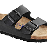 Arizona Soft Footbed Black Birko-Flor Sandals | Birkenstock USA Official Site