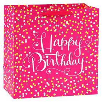 Happy Birthday Confetti Pink Gift Bag Spritz™ : Target