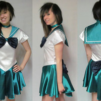 Sailor Neptune Scout Costume Cosplay Adult Women's Size 4 6 8 10 12