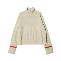Extended Sleeve Split Turtleneck Sweater | STYLENANDA
