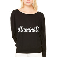 Illuminati WOMEN'S FLOWY LONG SLEEVE OFF SHOULDER TEE