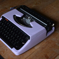 MADE TO ORDER - Custom made Lillac brother 220 deluxe - Working Vintage Typewriter