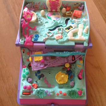 vintage polly pocket mermaid adventure book