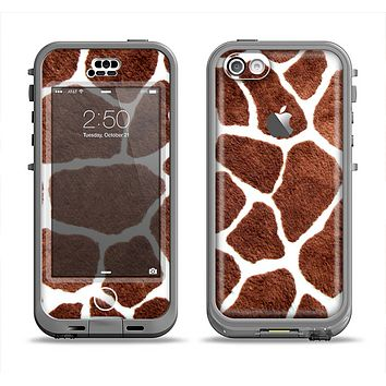 The Real Giraffe Animal Print Apple iPhone 5c LifeProof Nuud Case Skin Set