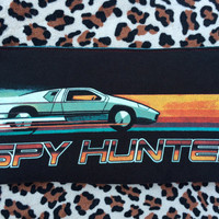 SPY HUNTER - Upcycled Concert/ Band T-shirt Makeup/ Pencil Pouch - ooak
