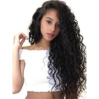 Glueless Full Lace Brazilian Loose Wave Remy Human Hair Wig With Baby Hair