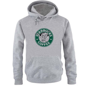Starbuck coffee Hoodie Sweatshirt Sweater Shirt Gray and beauty variant color for Unisex size