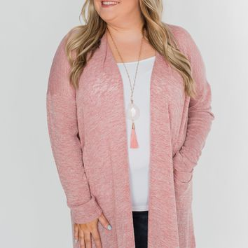 Long Way To Go Cardigan- Dusty Rose