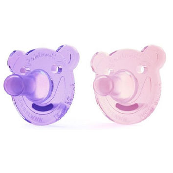 Philips Avent 0-3 Months 2 Pack BPA Free Bear Soothie - Girl