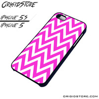 Chevron Pink Wave Case For Iphone 5/5S Case