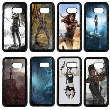 Phone Cases for Samsung Galaxy A3 A5 A7 A8 2015 2016 2017 2018 Note 8 5 3 2 Tomb Raider 2018 Lara Croft Black Hard PC Cover