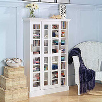 White Sliding Door Media Cabinet | Living Room Furniture| Furniture | World Market