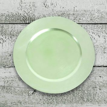 Amiltola Charger Plate in Pistachio | Set of 4