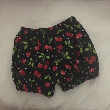 Cherries Diaper Cover Bloomers Baby Shower Gift Infant Girl