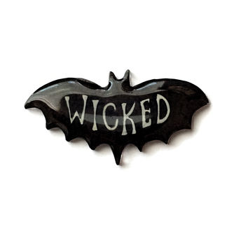 """""""Wicked"""" Witchy Bat Pin"""
