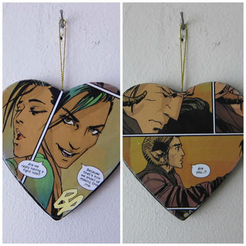 Saga: Marko & Alana -- One of a Kind Double-Sided Comic Book Ornament
