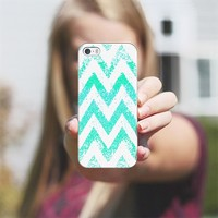 mint chevron iPhone 5s case by Marianna | Casetagram