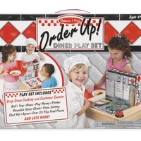 Melissa & Doug Order Up! Diner Play Set with Play Food (53 pcs) - Be Cook, Server, or Customer