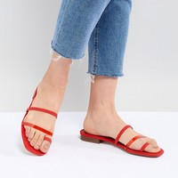 Bershka clean multi strap flat sandals at asos.com