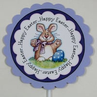 Easter cupcake topper set of 12 Happy Easter cupcake topper set