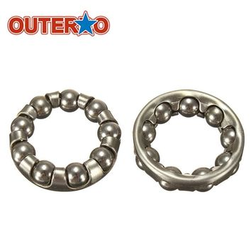 OUTERDO 2pcs/lot Bicycle Rear Wheel Axle 1/4 Inch x 9 Ball Bearing Cages Cycling Shafts Steel Silver for MTB Mountain Road Bike