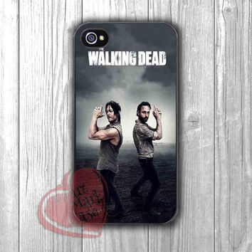 The walking dead poster Rick Grimes Daryl Dixon - zzd for  iPhone 4/4S/5/5S/5C/6/6+s,Samsung S3/S4/S5/S6 Regular/S6 Edge,Samsung Note 3/4