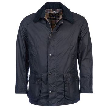 Ashby Waxed Jacket in Navy by Barbour