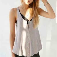 BDG Button-Down Tank Top