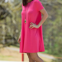 The Perfect Piko Short Sleeve Swing Dress-Coral – Simply Dixie Boutique
