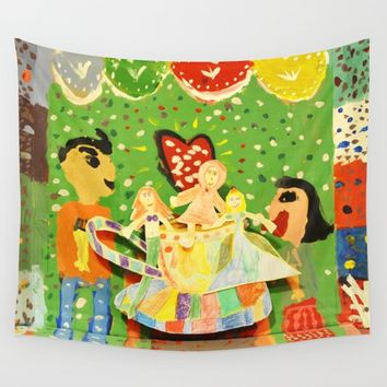 The cup of Rosalia | Full of fairy tales | Painting by Elisavet Wall Tapestry by Azima